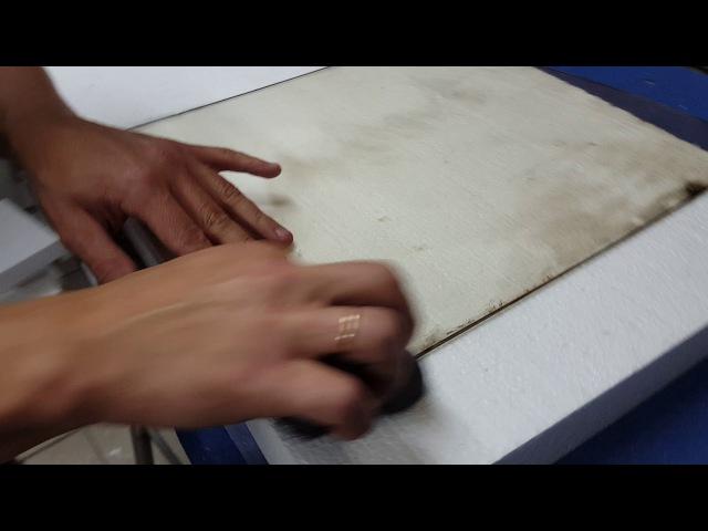 Губка Rakso для очистки копоти на жаропрочном стекле камина или банной печи