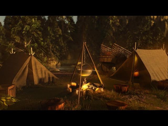 River Campfire - Nature Sounds   2 Hours
