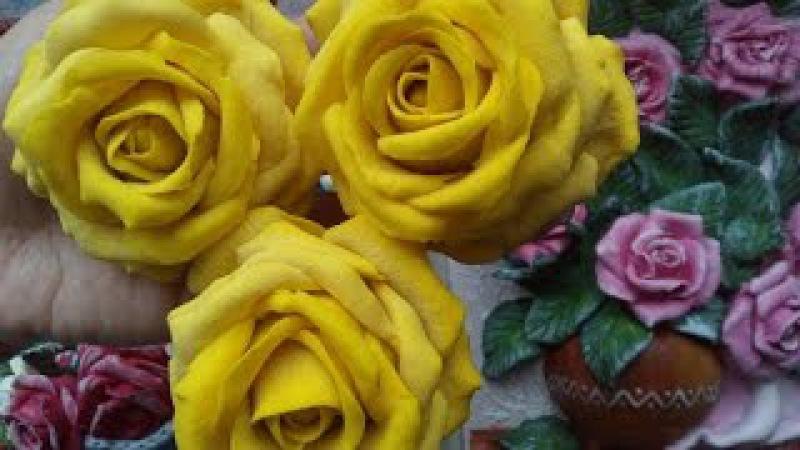 Рецепт солёного теста для лепки цветов Как сделать розу из солёного теста