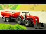 СБОРНИК: Мультфильмы про Машинки Трактор, Грузовик, Кран на стройке - Развивающи ...