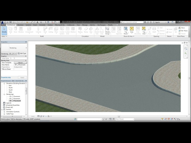 BIM Revit Site Design 03 Creating Curb l Kerb and Pavement on Contours