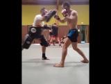 Тренировка бойца М-1 Моктара Бенкаси перед M-1 Challenge 74