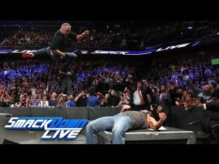 [WWE QTV]☆[Smackdown Live]21.03.2017]Aj Styles Shane McMahon]☆[Смек Лайв]21 March 2017]Brawl Full]HD]