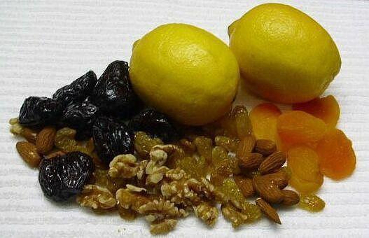 Для укрепления иммунитета мед орехи лимон