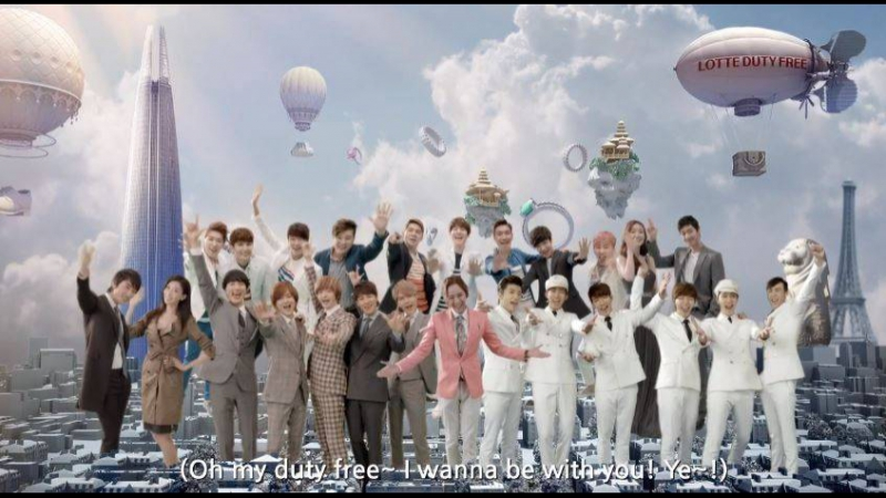 2013 LOTTE DUTY FREE - KIM HYUN JOONG ,CHO SHIN SUNG, 2PM,JANG KEUN SUK ,SUPER JUNIOR, SONG SEUNG HEON ,CHOI JI WOO Music Video