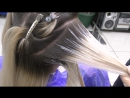 The gradient on blond hair__Gradient_hair_coloring