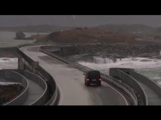 Шоссе в Норвегии впечатляет