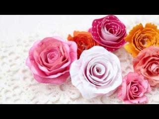 Розы по спирали из бумаги для акварели