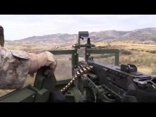 US New Weapons 2017 - US Marines Pierce Big Steel Plates With Powerful M2 .50 Machine Guns