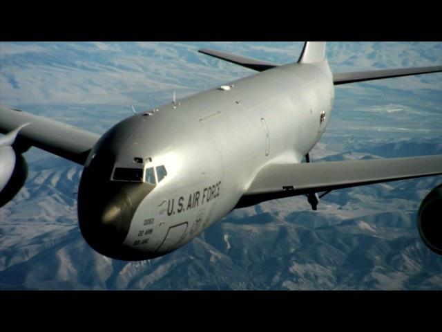 US New Weapons 2017 - US AirForce KC-135 Stratotanker Splendid Aerial Video Over California Land