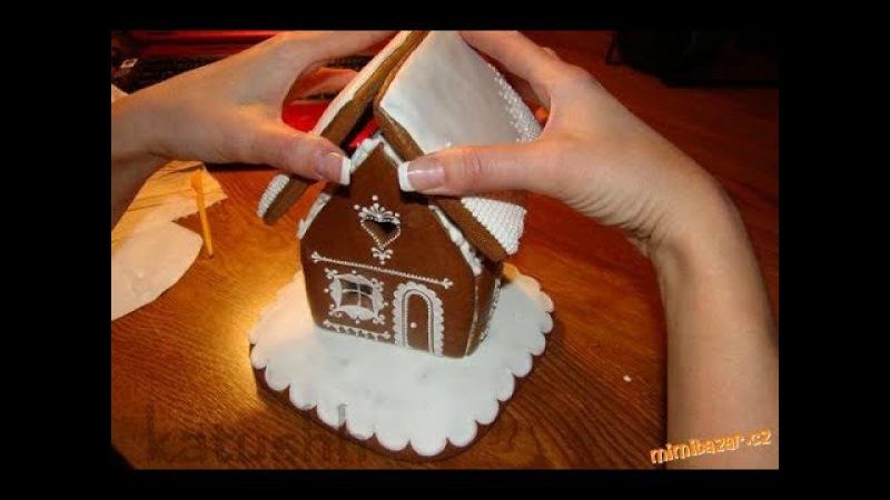 Рождественский пирог - Имбирный домик.Рецепт, как приготовить