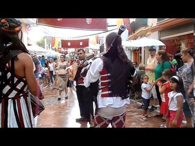 Musica Mercado Medieval, danza oriental, Feria Medieval ALHAURIN de la TORRE 2017, 28/05