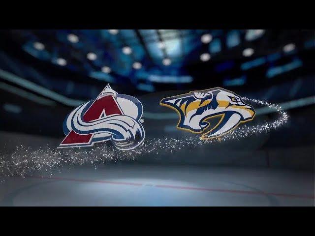 Colorado Avalanche vs Nashville Predators - October 17, 2017   Game Highlights   NHL 2017/18 Обзор