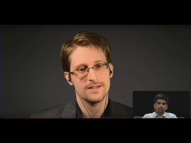 Das Snowden Interview in München, dem die deutschen Medien keinerlei Aufmerksamkeit schenkten