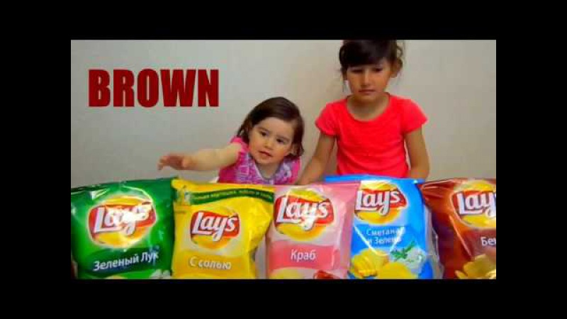 Learn Colors With Potato Chips for Children, Toddlers and Babies| Bad Kids Learn Colours