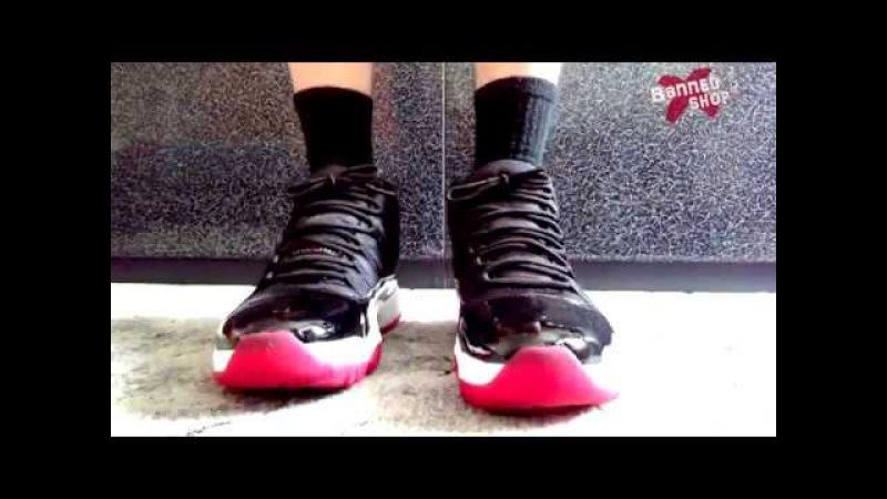 Обзор Air Jordan 11 Retro Bred из Banned Shop©