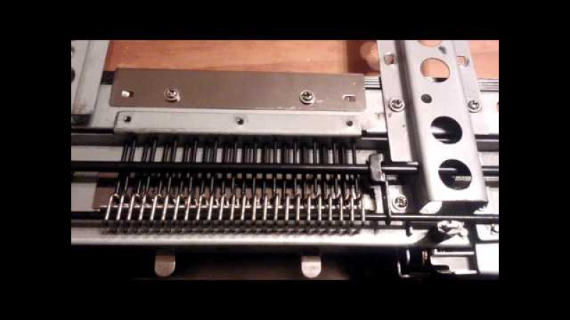 Brother knitting machine punch card reader.