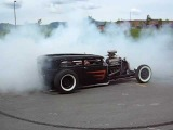 Steel Junkies - Frakenstein Burn Out Model A Sedan