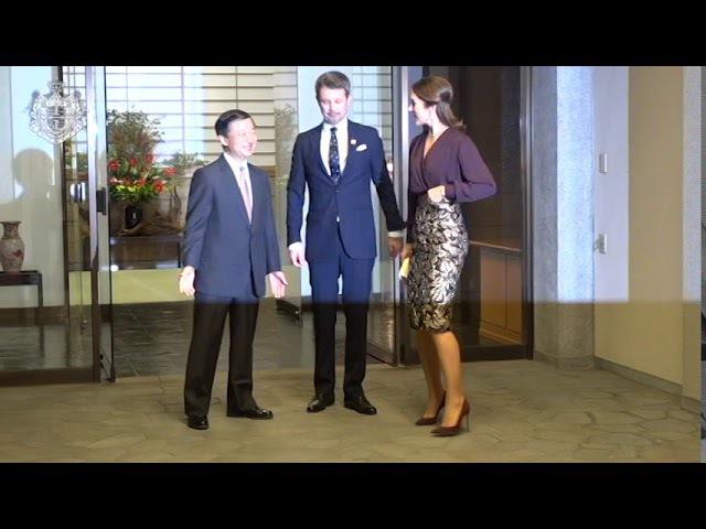 Kronprinsparret til middag hos Japans Kronprins