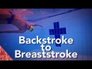 Crossover turns swimming Backstroke to breaststroke transition technique. Individual medley swimming