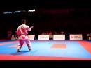 Рио Киюна (JPN) vs Уемура Такуя (JPN). Финал Премьер-Лиги Karate1 2016 (Окинава, Япония)