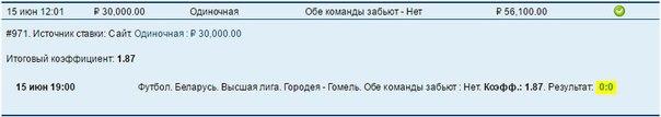✅ 'СТАВКА ДНЯ': ➕➕➕➕➕➕➕➕ ► Футбол. Беларусь. Высшая лига. ► Городея