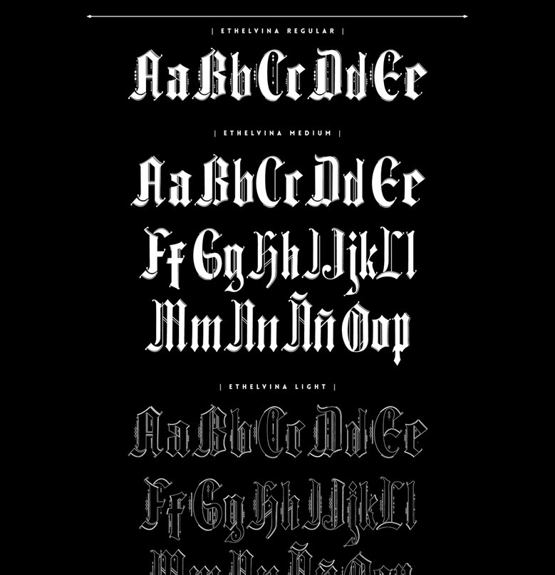 Download Ethelvina font (typeface)