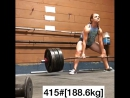 Келси Хортон - тяга 188 кг без экипировки