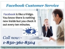Is Facebook Customer Service a well suited cure @1-850-361-8504