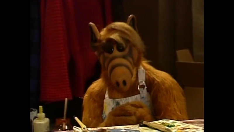 Alf Quote Season 4 Episode 16 Альф рисует