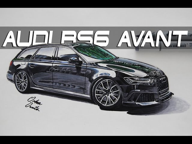 AUDI RS6 Avant Quattro Realistic Car Drawing   Araba Çizim