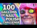 100 Gallons of Nail Polish Ft. SimplyNailogical - Man Vs Pin 100