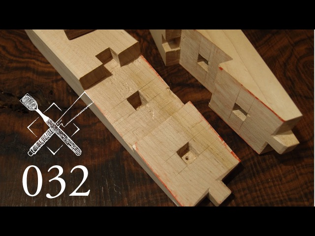 Joint Venture Ep. 32 Oblique doweled scarf joint Dai mochi tsugi (Japanese Joinery)