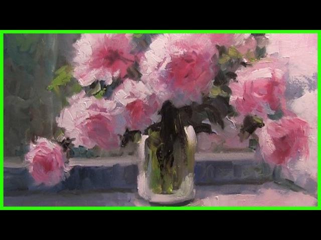 Урок живописи маслом Пионы Александр Южаков 79857776200