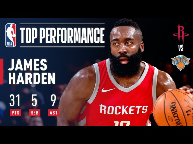 James Harden's 31 Points, 9 Assists Pushes Rockets Past Knicks   November 1, 2017