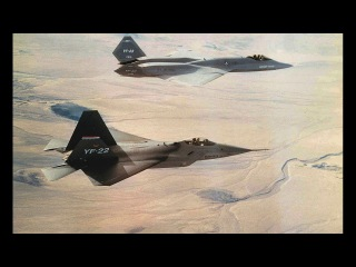 American single-seat, twin-engine stealth fighter aircraft YF-23 and F-22 United States Air Force