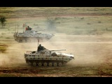 T-90 main battle tank BMP-2 tracked infantry fighting vehicle