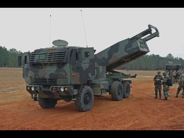 M142 High Mobility Artillery Rocket System (HIMARS) , wheeled variant of the M270 MLRS