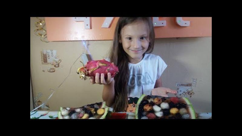 Готовим фруктовый желейный арбуз с КАРАМБОЛОЙ И ПИТАХАЙЕЙ