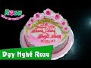 Trang trí bánh kem cưới lãng mạn đơn giản và ngọt ngào - Romantic wedding cake