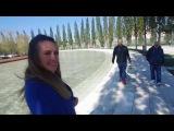 Дружная семья Гажиенко прогуливается по обновлённому парку в Краснодаре