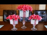 Glam Red and Silver Centerpiece