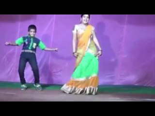 Telugu Latest Stage Dancing Performance by Beautiful half saree girl IN VILLAGE