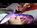 How to make a French Ribbonwork Four Petal Violet Flower