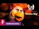 Настоящие Аниматроники, будут петь и играть на инструментах песню Dream Big Chuck E. Cheese Animatronics