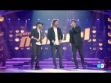 Шоу Голос Испания 2016. - Мануэль Карраско, Карлос Торрес и Луисо с песней Один на один.  The Voice