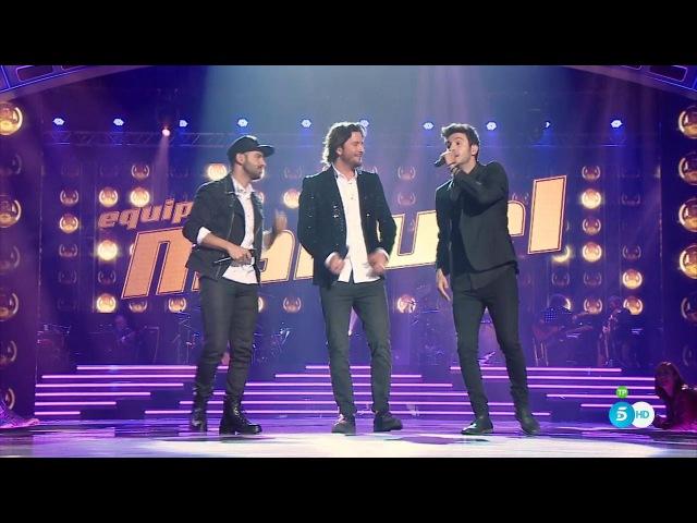 Шоу «Голос» Испания 2016. - Мануэль Карраско, Карлос Торрес и Луисо с песней «Один на один». — «The Voice» /