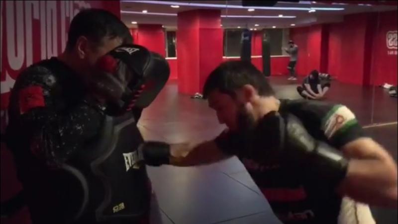 Ударная тренировка Абукара Яндиева