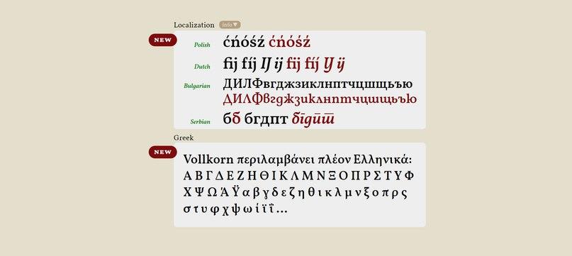Vollkorn шрифт скачать бесплатно