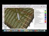 Каркасный дом с баней 8х6 (обзор в Sketchup) видео 11 - потолок, печь и дымоход